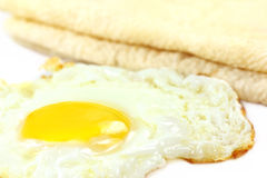 Roti bread with poached egg Royalty Free Stock Photo