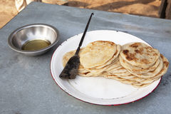 Roti for breakfast Royalty Free Stock Image