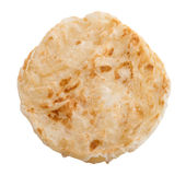 Roti Canai. Is famous Malaysian food, full length isolated on white background. Malaysia cuisine Royalty Free Stock Photo