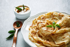 Roti Canai. Is a flatbread from Malaysia stock image