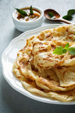 Roti Canai. Is a flatbread from Malaysia Stock Images