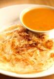 Roti canai is a popular Malaysian dish. Royalty Free Stock Images