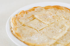 Roti Canai Pour Condensed milk and sprinkle sugar on top,cut int Stock Photography