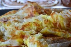 Roti canai prata malaysian indian dish. Stock Photos