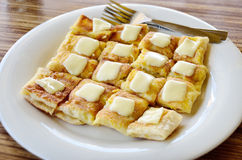 Roti with chesse Stock Photos