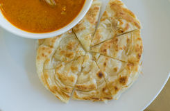 Roti and chicken curry Stock Photos