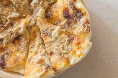 Roti with chili sauce and pork floss Royalty Free Stock Photo