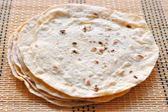 Roti. Closeup view of indian food roti stock photo