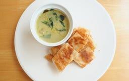 Roti con curry Fotografia Stock