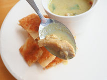 Roti con curry verde Fotografie Stock Libere da Diritti