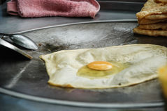 Roti, dessert de nourriture de rue, Thaïlande Photo stock