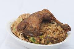 Roti di kottu del pollo Fotografie Stock