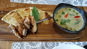 Roti e Tailandês-caril Imagem de Stock Royalty Free