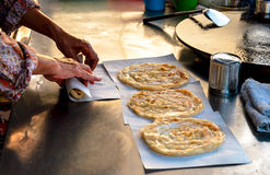 Roti fried bread Royalty Free Stock Photography