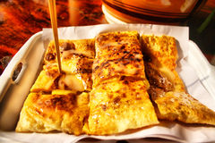 Roti. Is generally an Indian bread, made from stoneground wholemeal flour, traditionally known as atta flour, that originated and is consumed in India Stock Photography