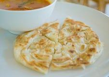 Roti i kurczaka curry'ego set obraz stock