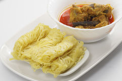 Roti Jala and Chicken Curry Stock Image