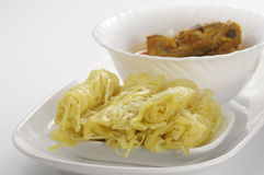 Roti Jala and Chicken Curry Royalty Free Stock Photos