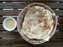Roti and milk Royalty Free Stock Image