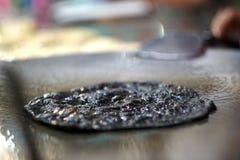 Roti negro del carbón de leña Imagen de archivo libre de regalías