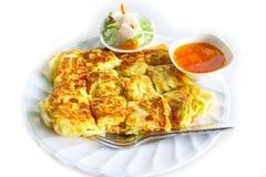 Roti oder thailändischer Pfannkuchen Lizenzfreies Stockfoto