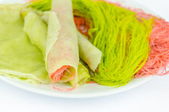Roti Saimai (caramelo de algodón) Imagen de archivo