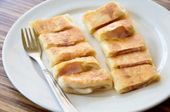 Roti in white dish Stock Photography