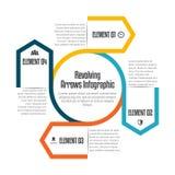 Rotierende Pfeile Infographic Stockfoto