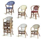 rotin de fauteuils Images libres de droits