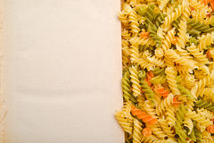 Rotini and open book Stock Images
