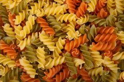 Rotini Pasta. Photo of Three Colors Rotini Pasta Stock Photos