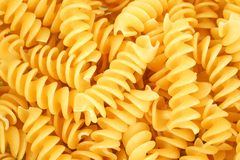 Rotini pasta background Royalty Free Stock Images
