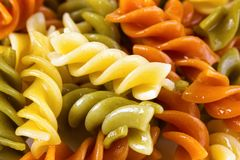Rotini pasta closeup Royalty Free Stock Photos