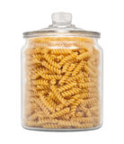 Rotini Pasta in a Glass Apothecary Jar Royalty Free Stock Image