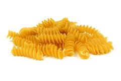 Rotini pasta isolated on white Royalty Free Stock Images
