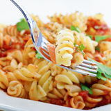 Rotini pasta macro Royalty Free Stock Photography