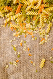 Rotini or spiral pasta Royalty Free Stock Images
