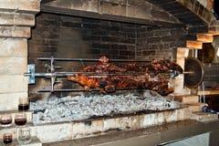 Rotisserie pork Stock Photo