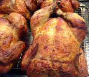 Rotisserie Whole Chicken Royalty Free Stock Image