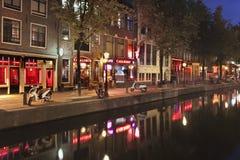 Rotlichtviertel in Amsterdam Stockbild