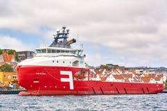 Rotoffshoreversorgungsschiff lizenzfreie stockbilder