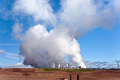 Rotokawa Geothermal Power Station Stock Photo