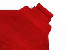 Rotolamento del tappeto rosso Fotografia Stock