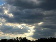 Rotolamento della tempesta dentro fotografia stock libera da diritti