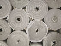 Rotolamento: un mucchio dei rotoli degli asciugamani Immagine Stock Libera da Diritti
