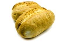 Rotoli al forno dei panini isolati su fondo bianco fotografie stock