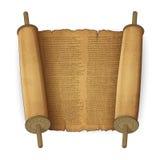 Rotoli antichi con testo Immagini Stock Libere da Diritti