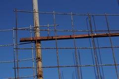 Rotoli arrugginiti del cavo per il lavoro concreto del pavimento Immagini Stock Libere da Diritti