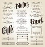 Rotoli calligrafici e decorativi Immagini Stock Libere da Diritti