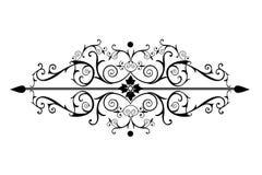Rotoli decorati del victorian nel nero Immagini Stock